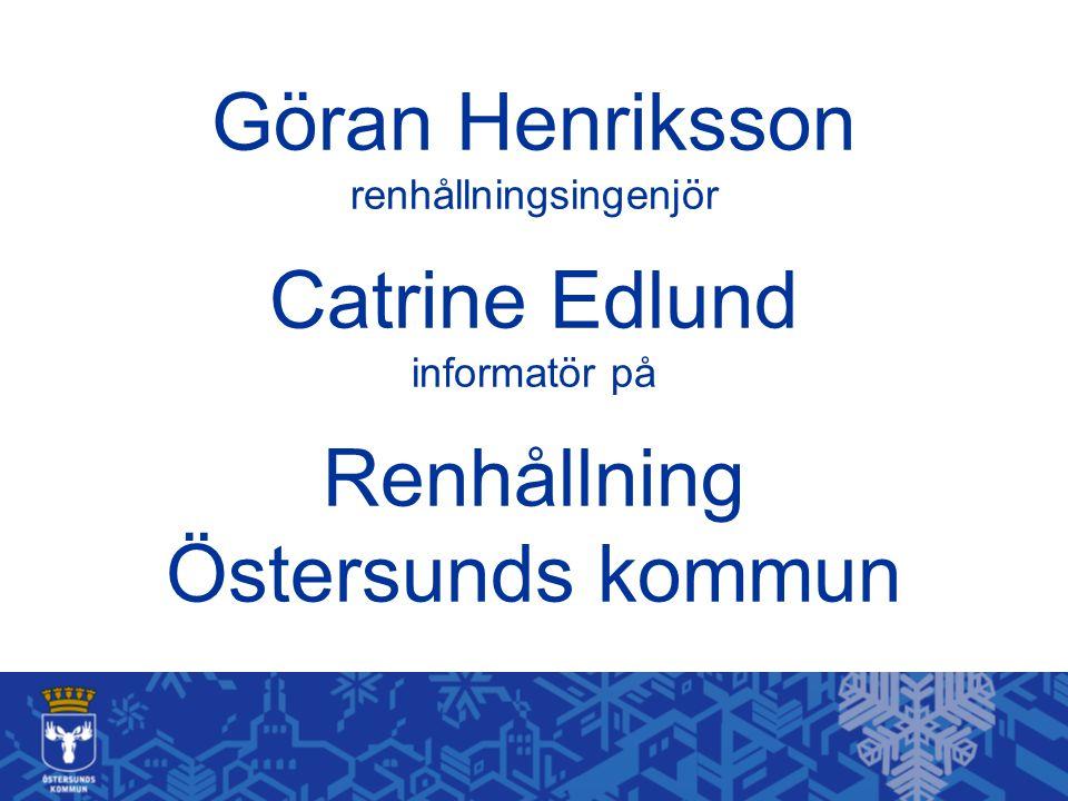 Göran Henriksson renhållningsingenjör Catrine Edlund informatör på Renhållning Östersunds kommun