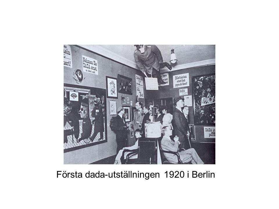 Första dada-utställningen 1920 i Berlin