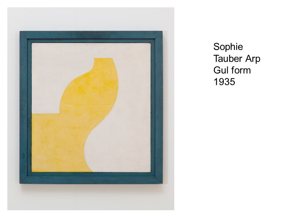 Sophie Tauber Arp Gul form 1935