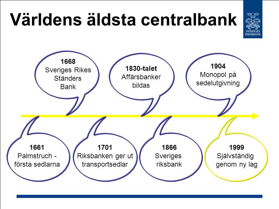 Världens äldsta centralbank