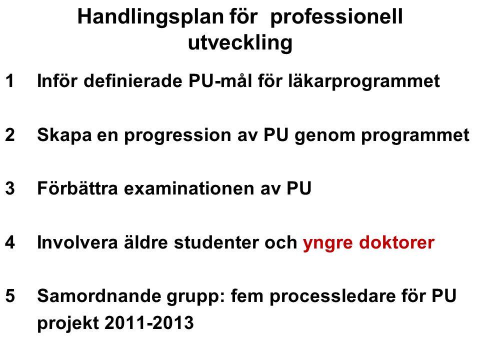 Handlingsplan för professionell utveckling