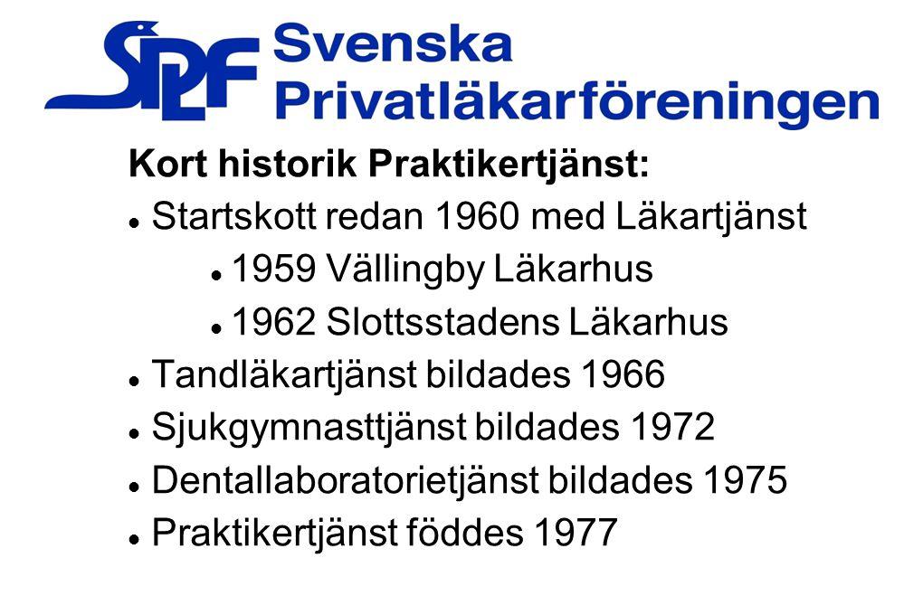 Kort historik Praktikertjänst: