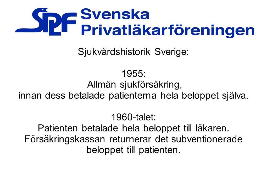 Sjukvårdshistorik Sverige: 1955: Allmän sjukförsäkring,
