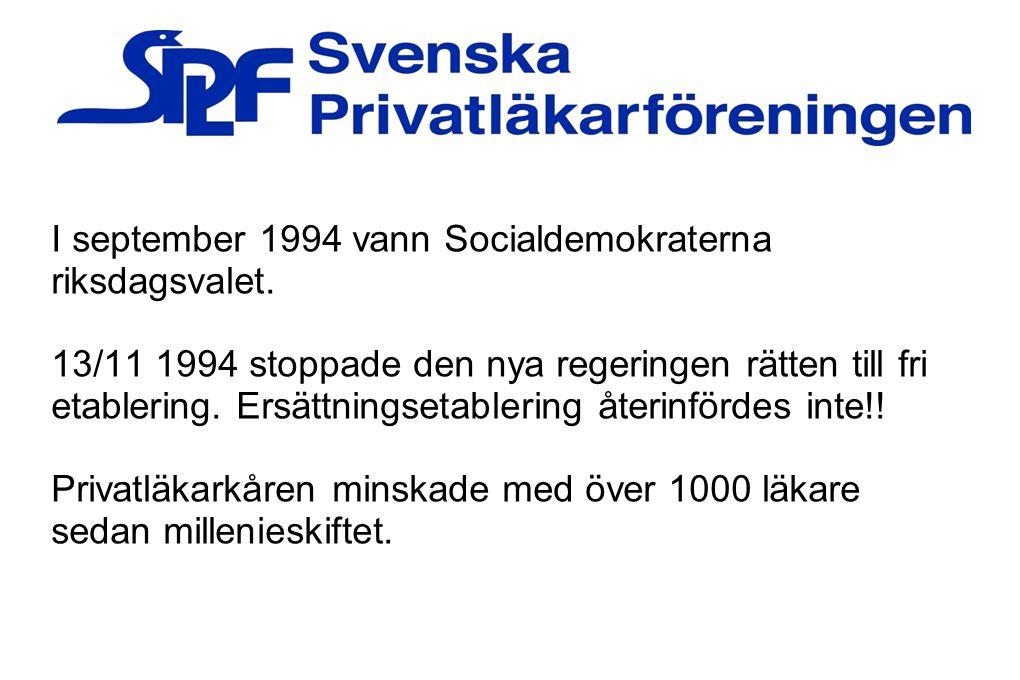 I september 1994 vann Socialdemokraterna riksdagsvalet.