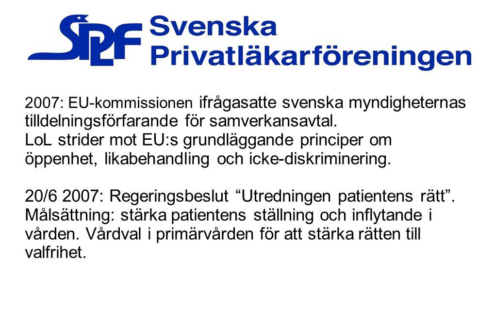 20/6 2007: Regeringsbeslut Utredningen patientens rätt .