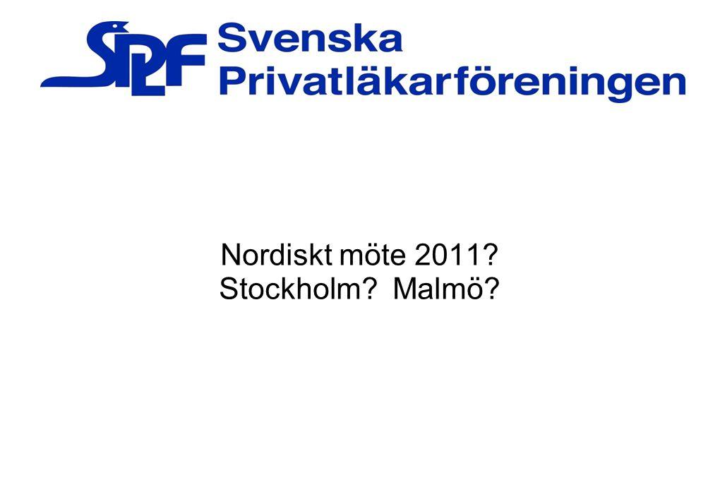 Nordiskt möte 2011 Stockholm Malmö