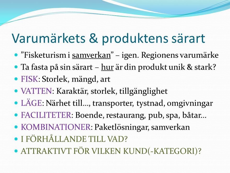 Varumärkets & produktens särart