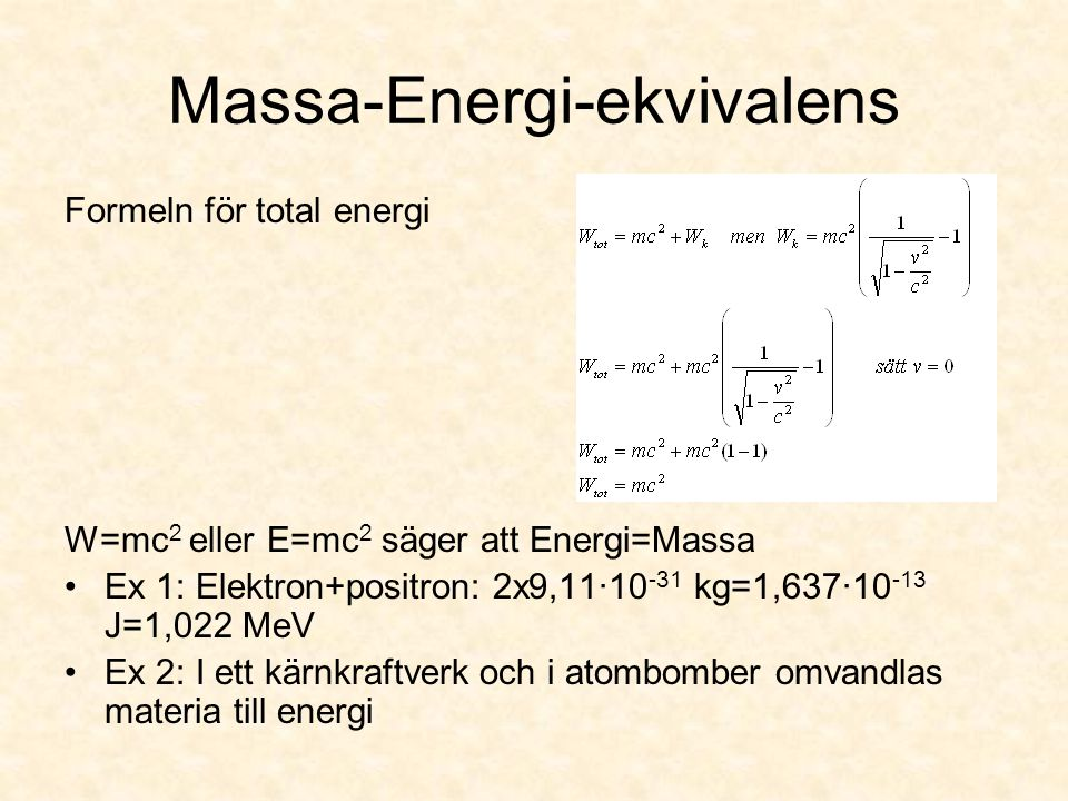 Massa-Energi-ekvivalens