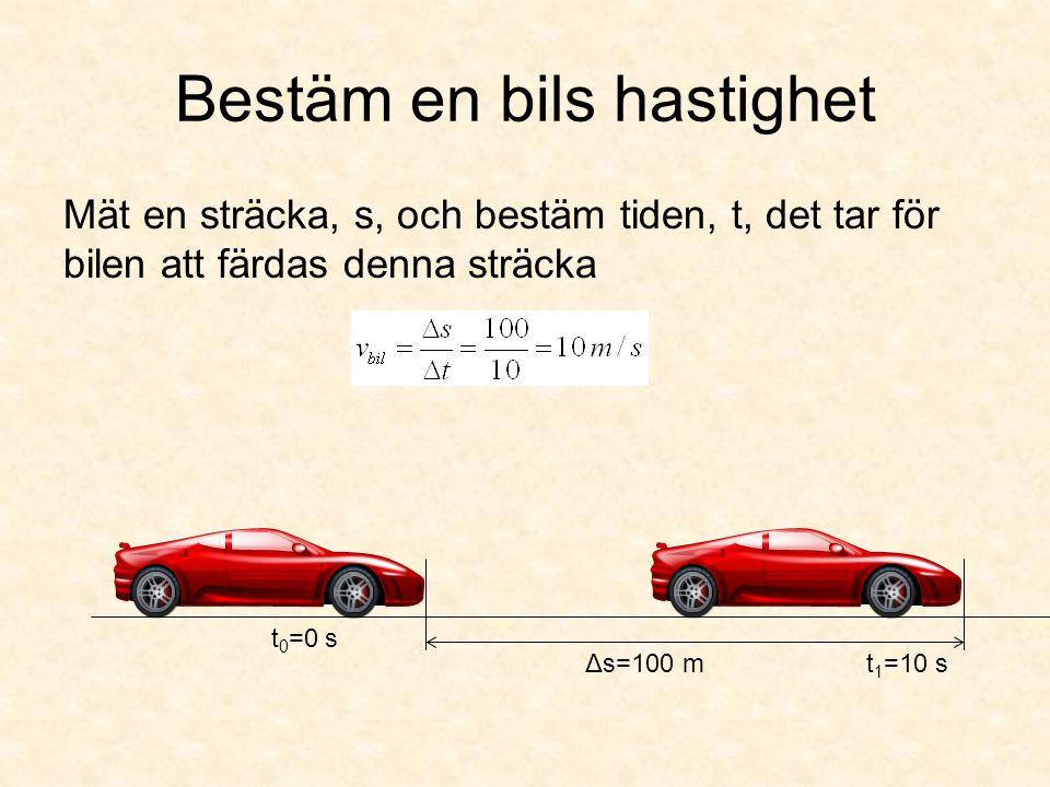 Bestäm en bils hastighet