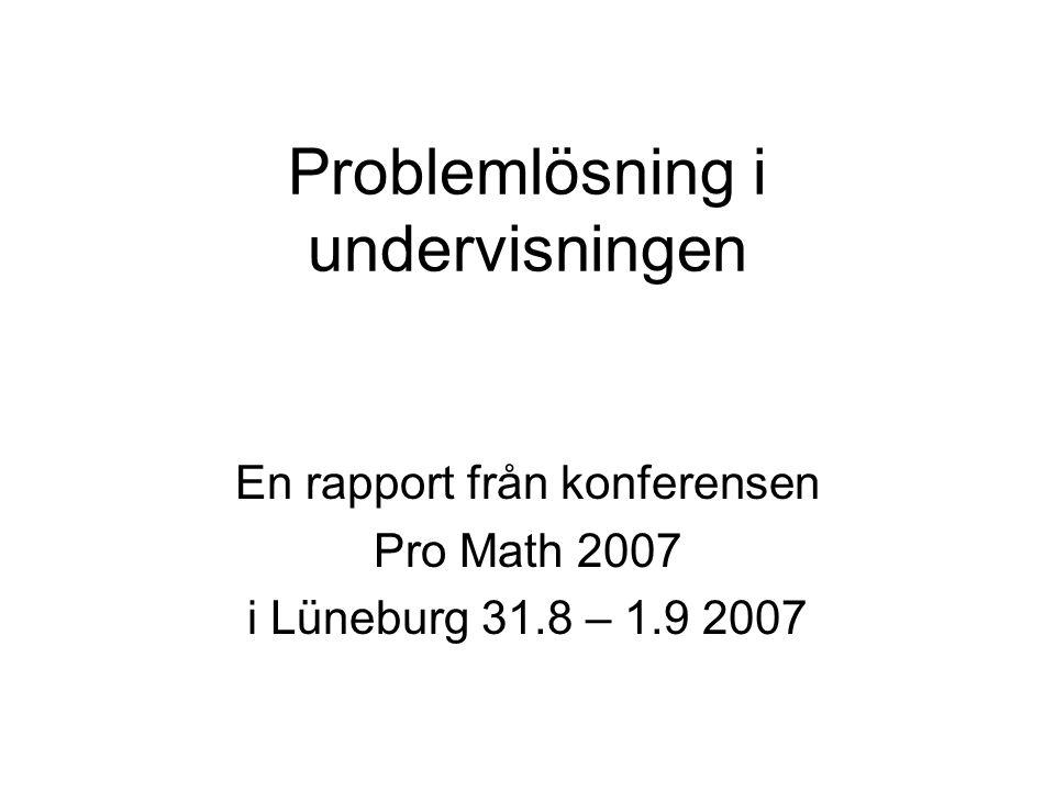 Problemlösning i undervisningen
