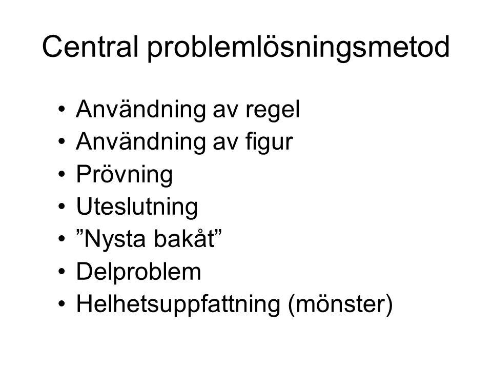 Central problemlösningsmetod