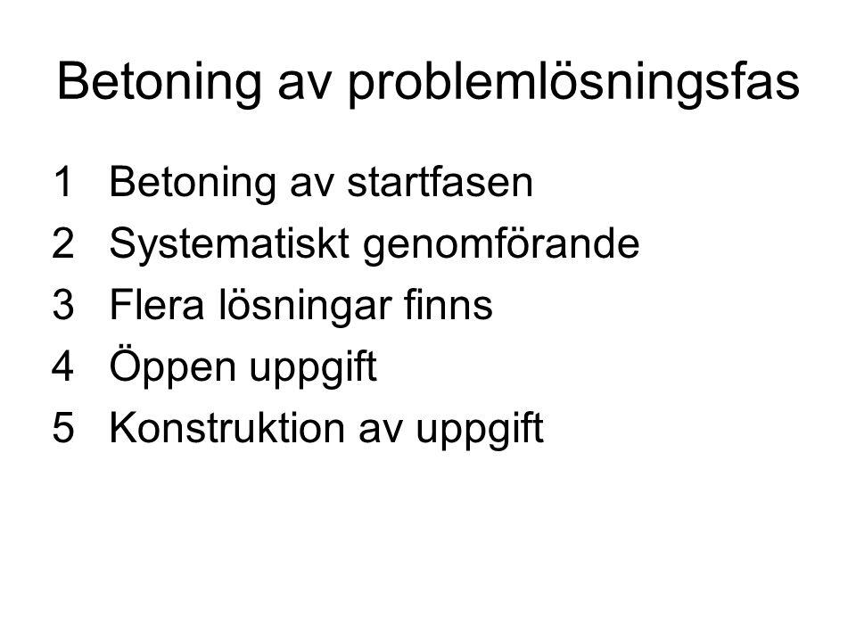 Betoning av problemlösningsfas