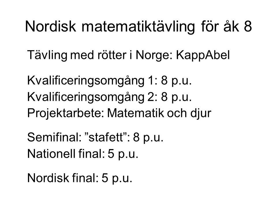 Nordisk matematiktävling för åk 8