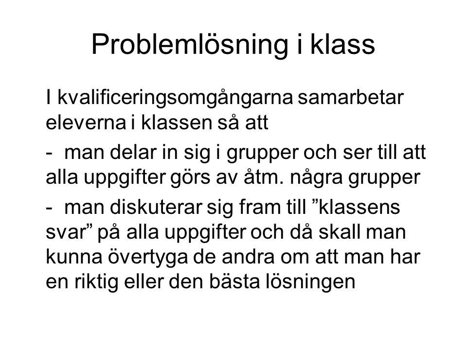 Problemlösning i klass