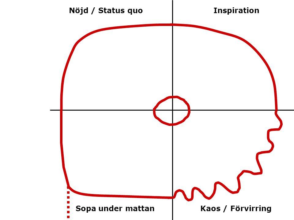 Nöjd / Status quo Inspiration Sopa under mattan Kaos / Förvirring