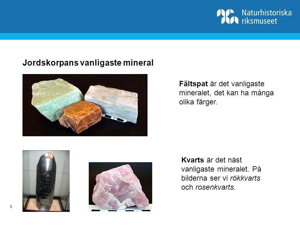 Jordskorpans vanligaste mineral
