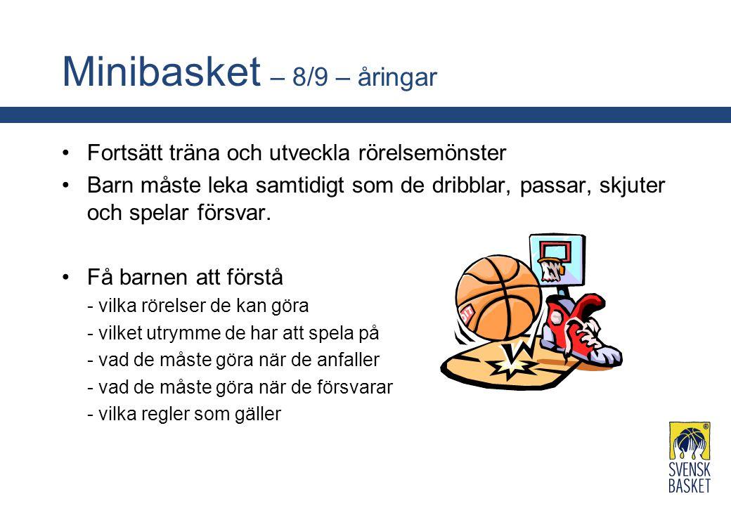 Minibasket – 8/9 – åringar