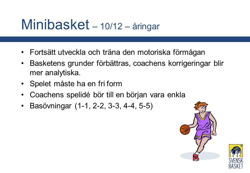 Minibasket – 10/12 – åringar