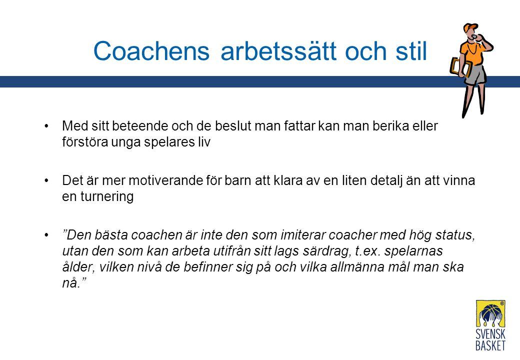 Coachens arbetssätt och stil