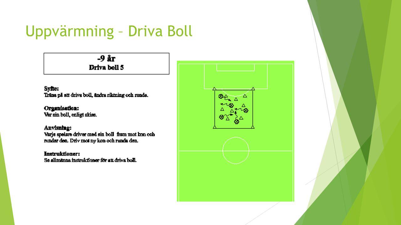 Uppvärmning – Driva Boll