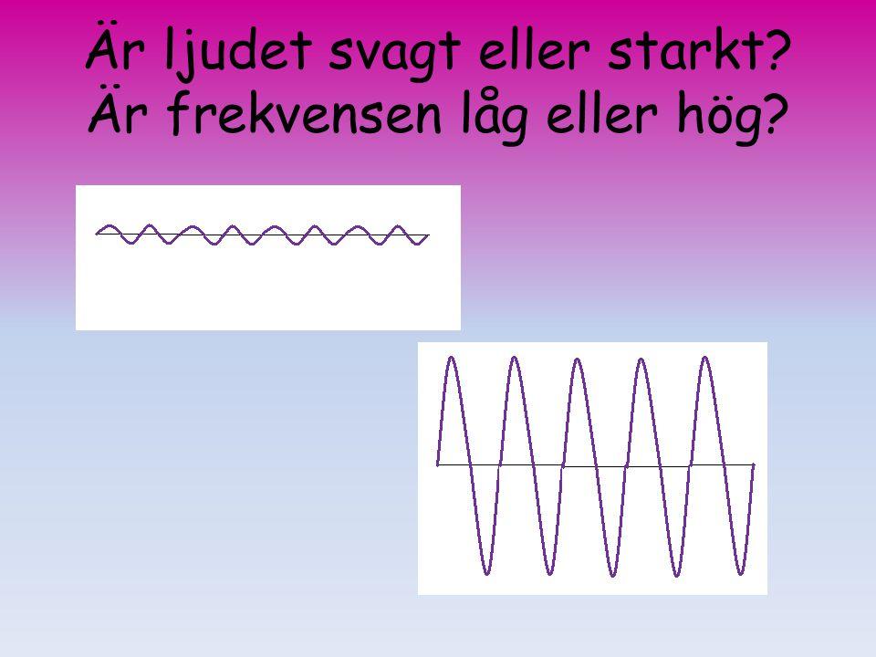 Är ljudet svagt eller starkt Är frekvensen låg eller hög