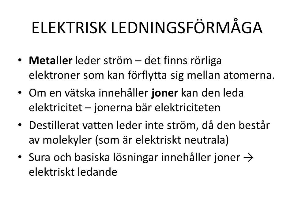 ELEKTRISK LEDNINGSFÖRMÅGA