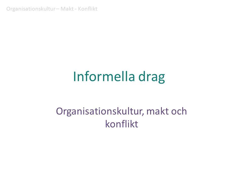 Organisationskultur, makt och konflikt