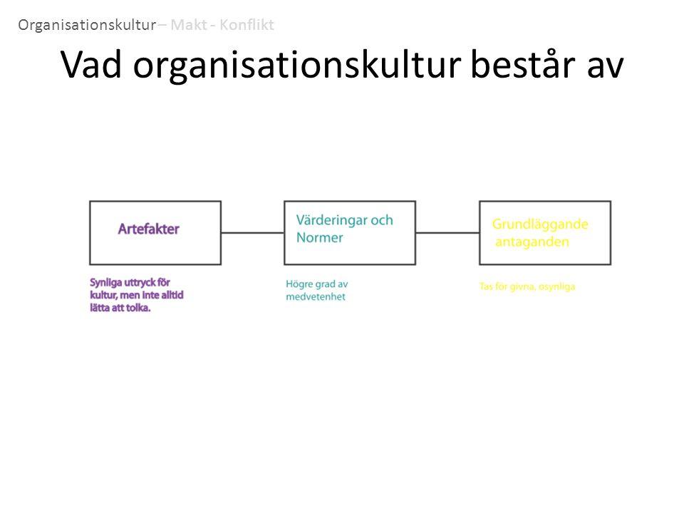 Vad organisationskultur består av