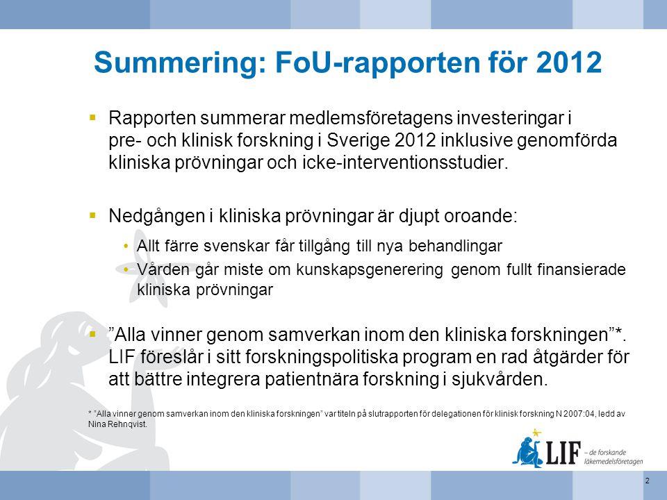 Summering: FoU-rapporten för 2012