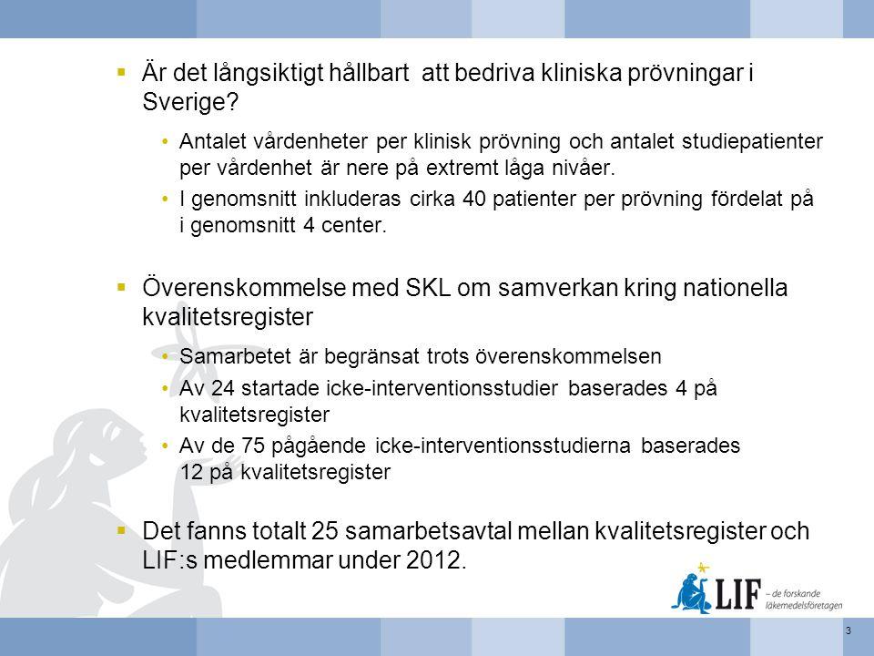 Är det långsiktigt hållbart att bedriva kliniska prövningar i Sverige