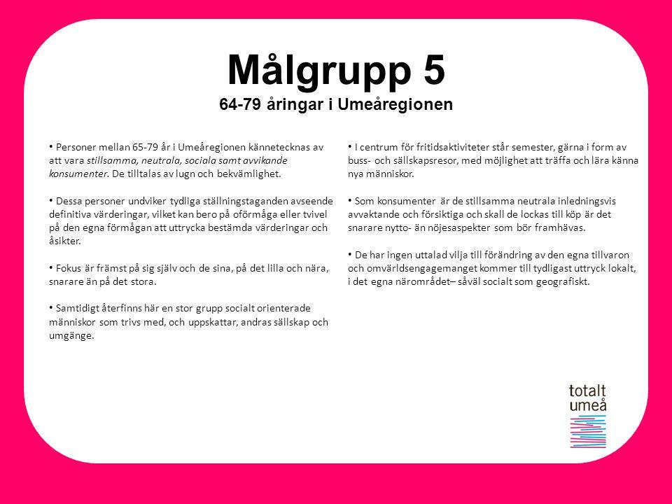 Målgrupp 5 64-79 åringar i Umeåregionen