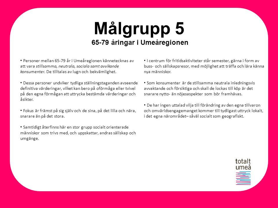 Målgrupp 5 65-79 åringar i Umeåregionen