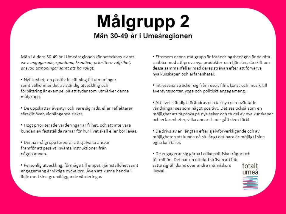 Målgrupp 2 Män 30-49 år i Umeåregionen