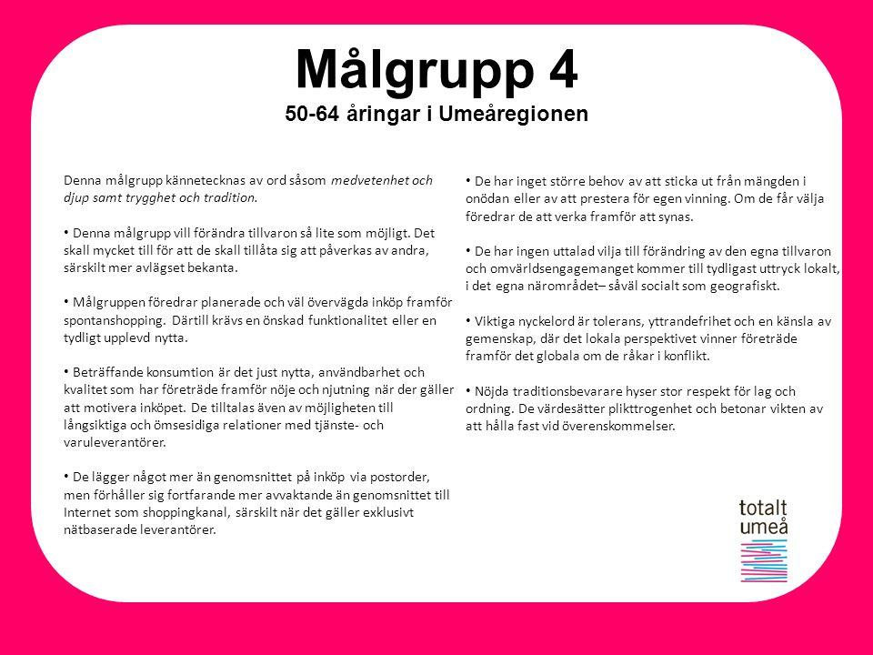 Målgrupp 4 50-64 åringar i Umeåregionen