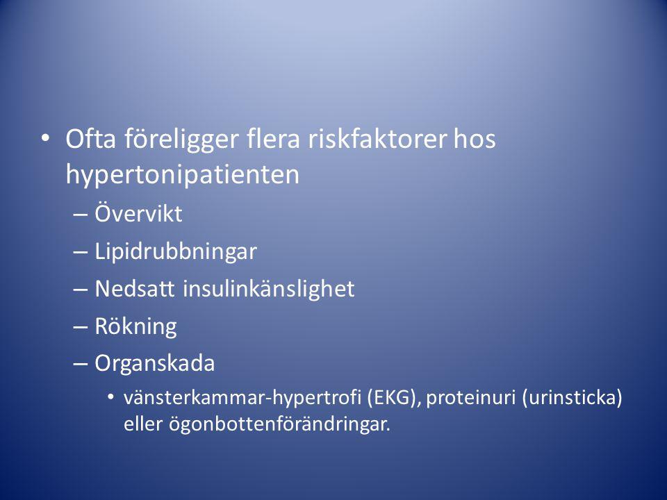Ofta föreligger flera riskfaktorer hos hypertonipatienten