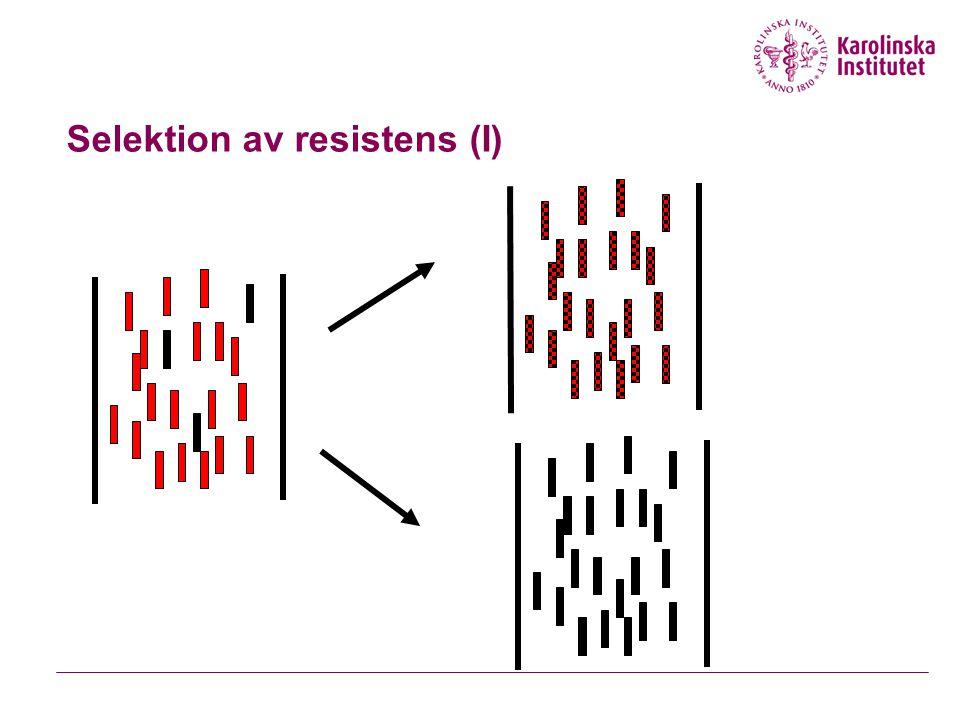 Selektion av resistens (I)