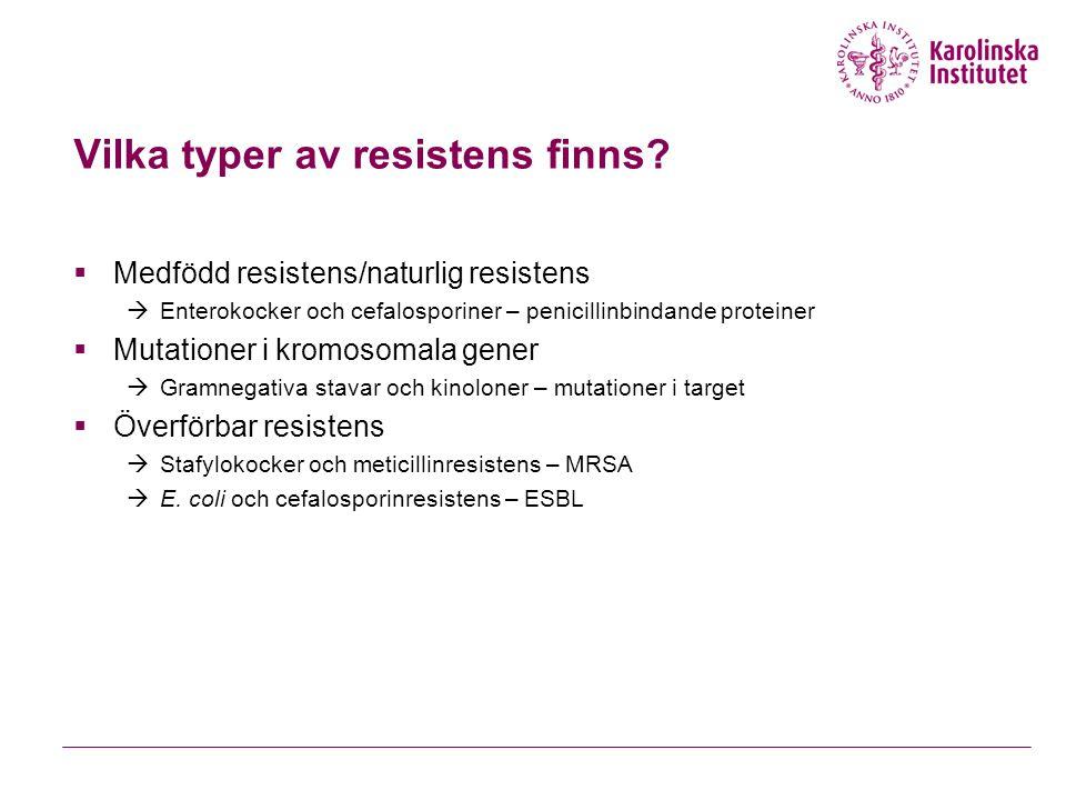 Vilka typer av resistens finns