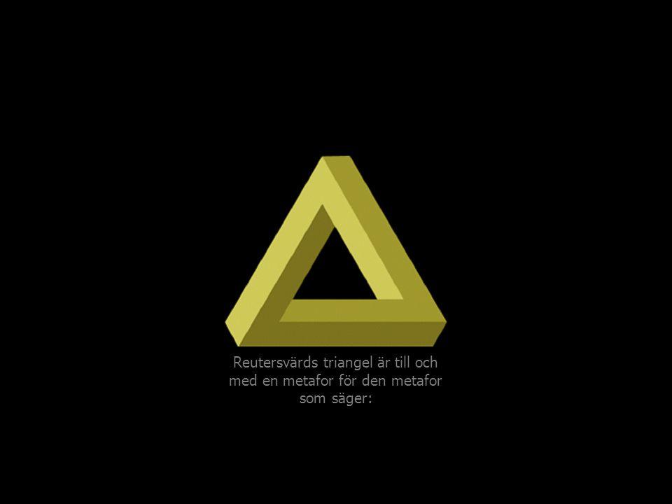 Reutersvärds triangel är till och med en metafor för den metafor som säger: