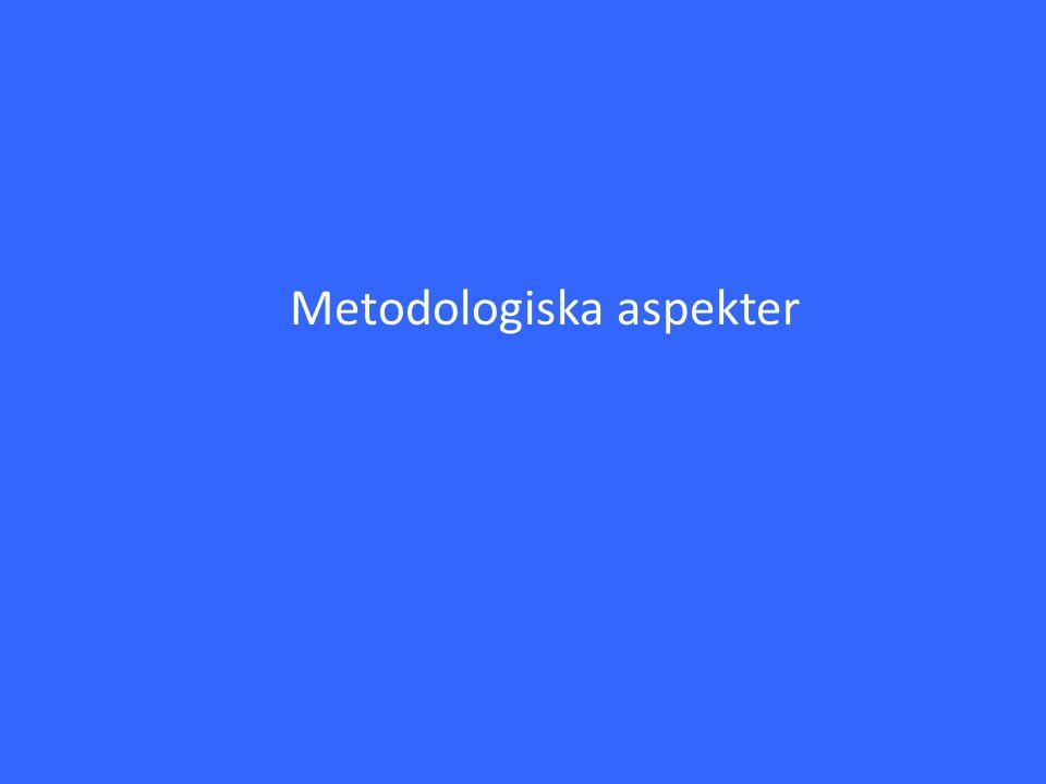 Metodologiska aspekter