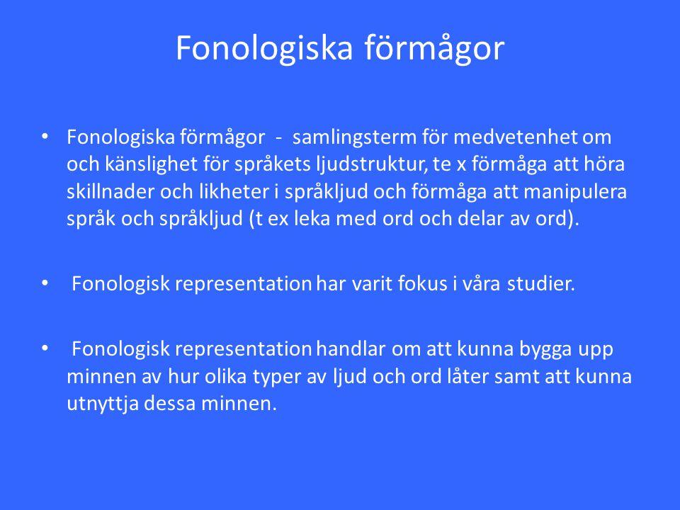 Fonologiska förmågor