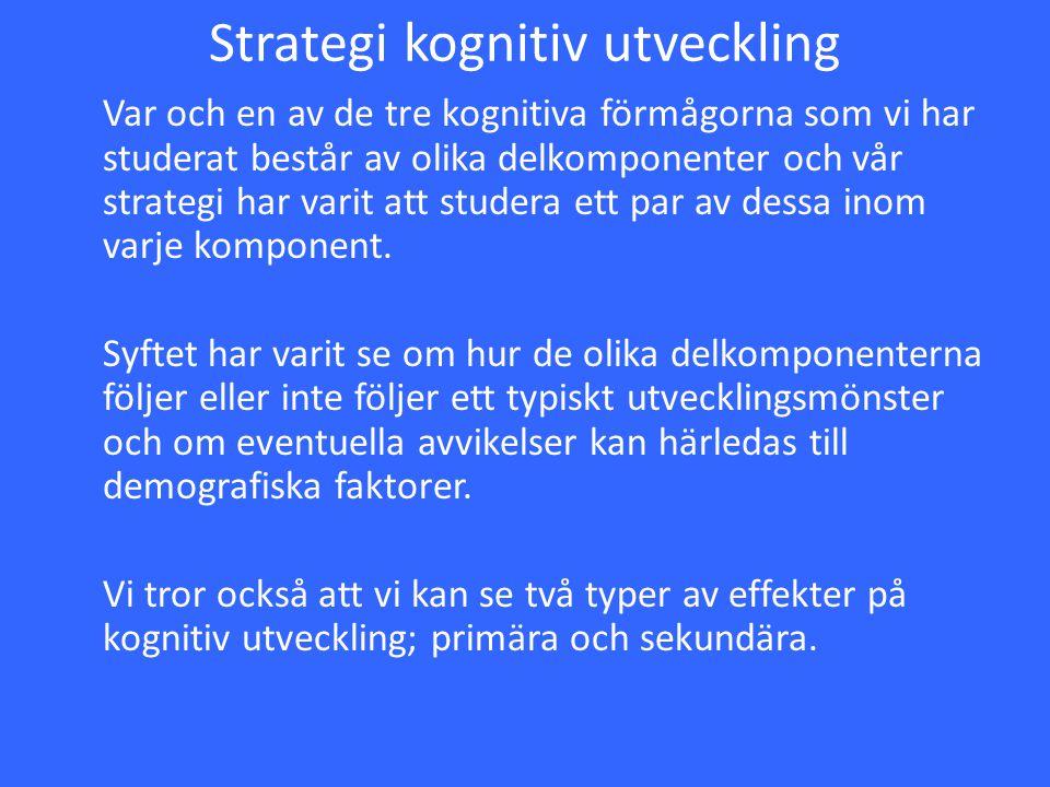 Strategi kognitiv utveckling