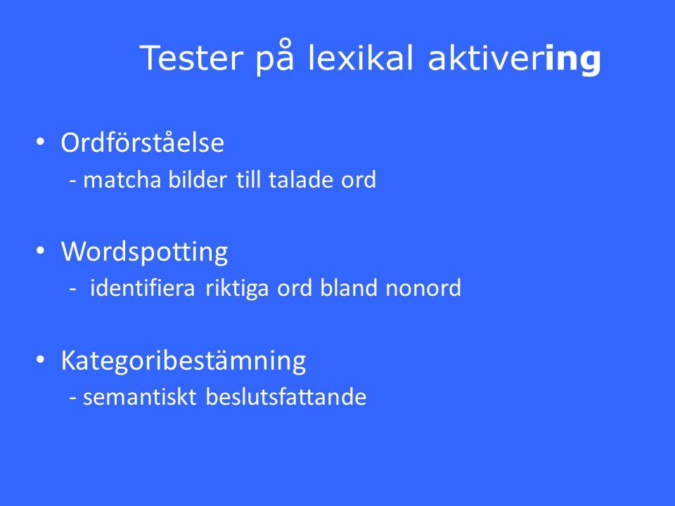 Tester på lexikal aktivering