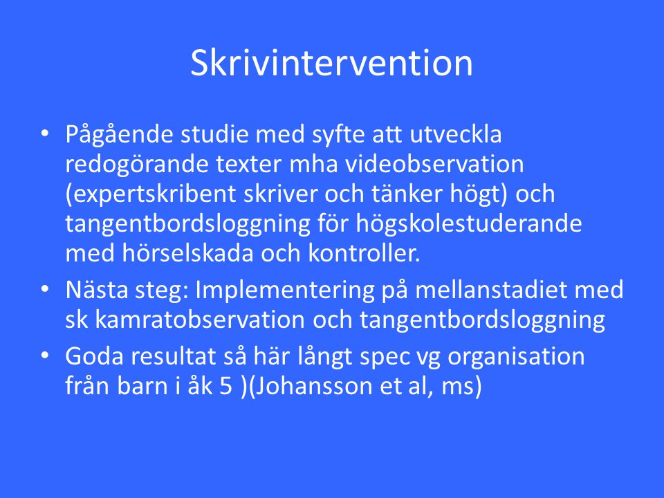 Skrivintervention