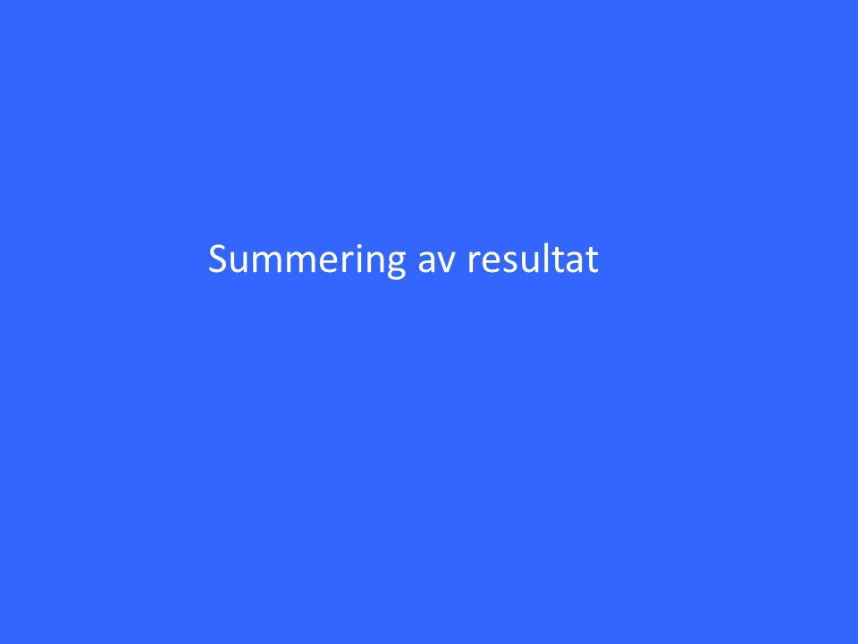 Summering av resultat