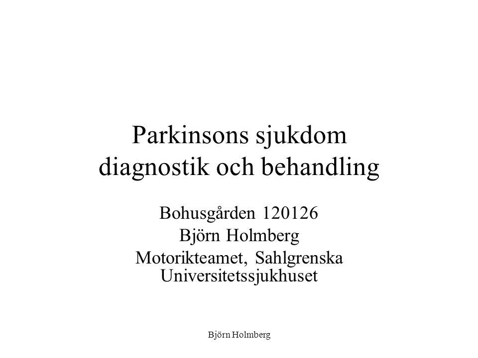 Parkinsons sjukdom diagnostik och behandling