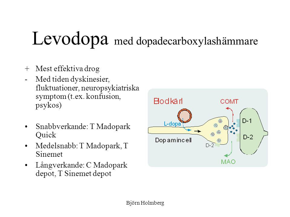 Levodopa med dopadecarboxylashämmare