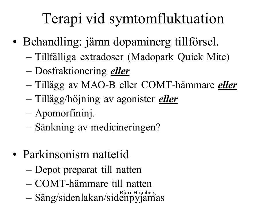 Terapi vid symtomfluktuation