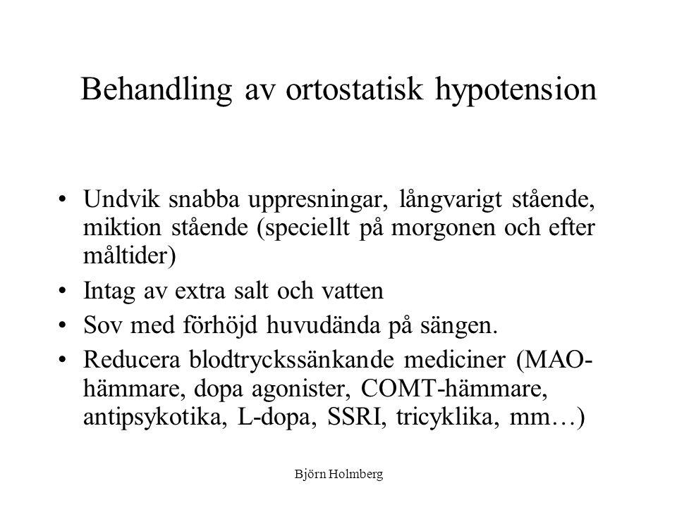 Behandling av ortostatisk hypotension