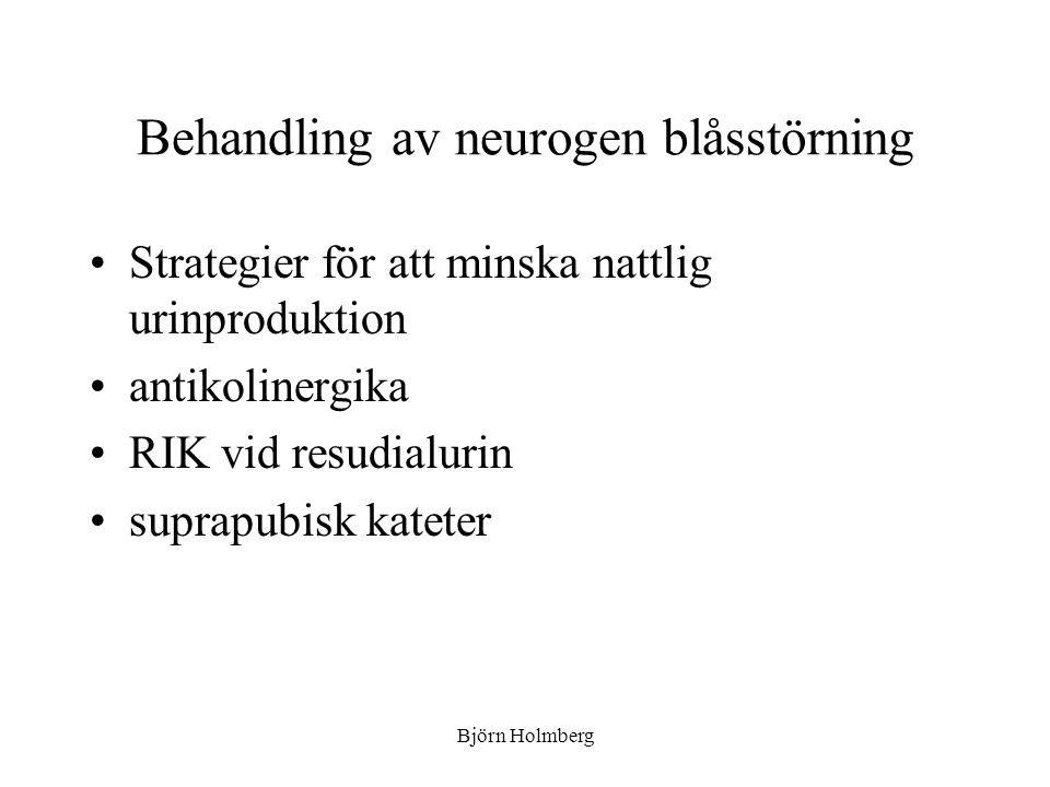 Behandling av neurogen blåsstörning