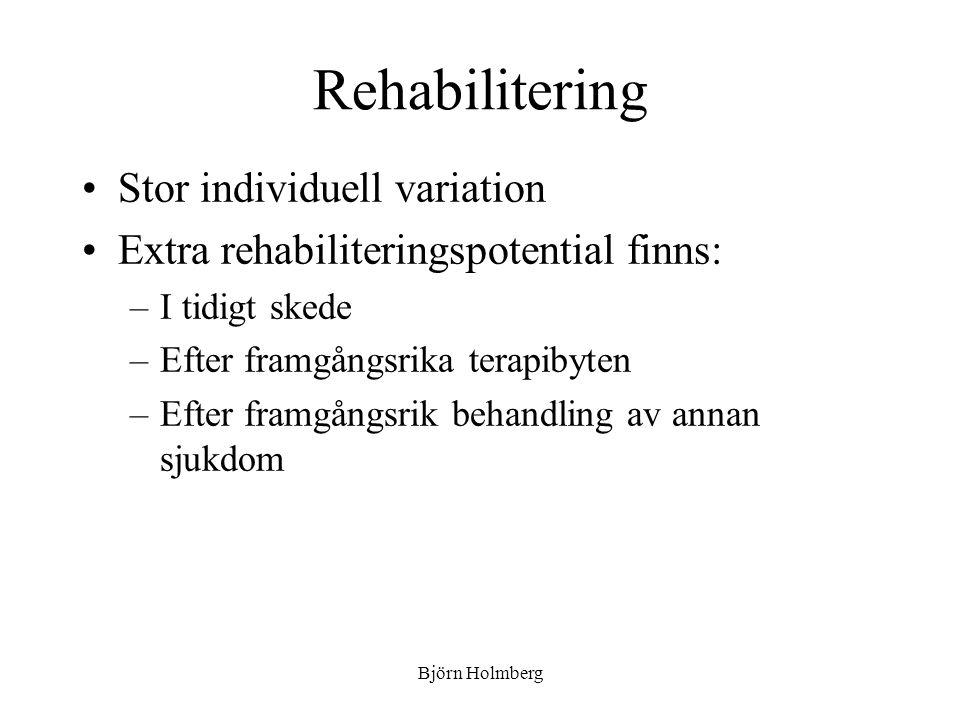 Rehabilitering Stor individuell variation